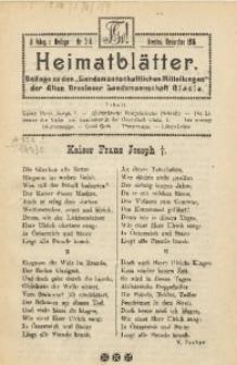 Heimatblätter, 1916, Jg. 2, nr 3/4