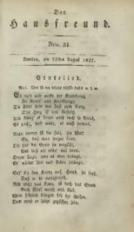 Der Hausfreund, 1827, Jg. 7, Nro. 34
