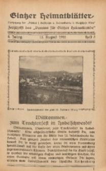 Glatzer Heimatblätter, 1922, Jg. 8, H. 3