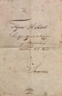 Figaro's Hochzeit. Komische Oper in 2 Aufzügen nach Beumarchais. Musik von W. A. Mozart. Scenarium