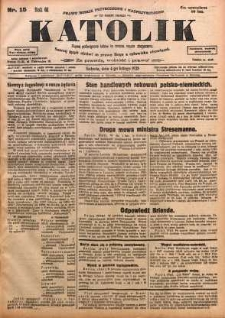 Katolik, 1928, R. 61, nr 15