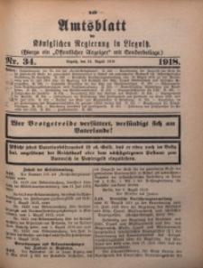 Amts-Blatt der Königlichen Regierung zu Liegnitz, 1918, Jg. 108, Nr. 34