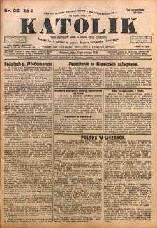 Katolik, 1928, R. 61, nr 22