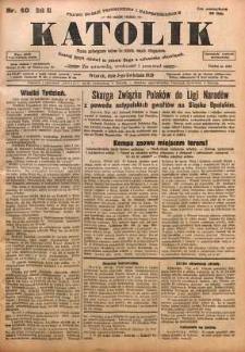Katolik, 1928, R. 61, nr 40