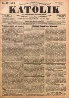 Katolik, 1928, R. 61, nr 43