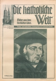 Die Katholische Welt. Bilderchronik aus dem kirchlichen Leben, 1935, Jg. 12, Nr. 21
