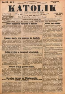 Katolik, 1928, R. 61, nr 92