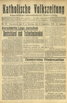 Katholische Volkszeitung, 1938, Jg. 21, Nr. 75