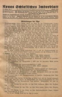 Neues Schlesisches Imkerblatt, 1940/1941, Jg. 39, Nr. 5