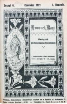 Dzwonek Marji, 1921, R. 1, z. 6