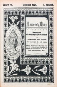 Dzwonek Marji, 1921, R. 1, z. 11