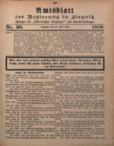 Amtsblatt der Regierung in Liegnitz, 1919, Jg. 109, Nr. 30