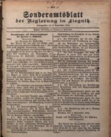 Sonderamtsblatt der Regierung in Liegnitz, 8. November 1919