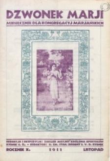 Dzwonek Marji, 1931, R. 10 [właśc. 11], z. 11