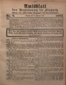 Amtsblatt der Regierung in Liegnitz, 1920, Jg. 110, Nr. 8