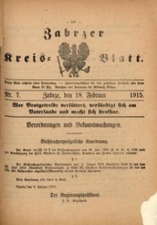 Zabrzer Kreis-Blatt, 1915, Nr. 7