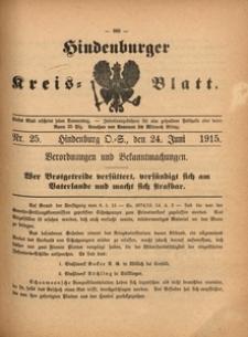 Hindenburger Kreis-Blatt, 1915, Nr. 25