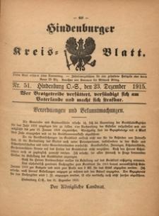 Hindenburger Kreis-Blatt, 1915, Nr. 51