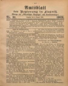 Amtsblatt der Regierung in Liegnitz, 1922, Jg. 112, Nr. 31