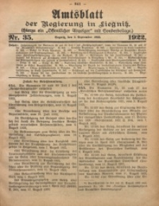 Amtsblatt der Regierung in Liegnitz, 1922, Jg. 112, Nr. 35