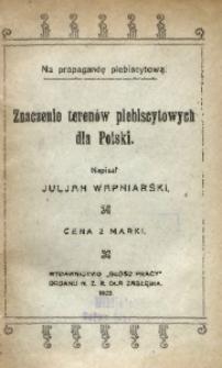 Znaczenie terenów plebiscytowych dla Polski