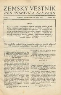 Zemský Věstník pro Moravu a Slezsko, 1933, Částka 1