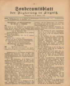 Sonderamtsblatt der Regierung in Liegnitz, 10. Januar 1923