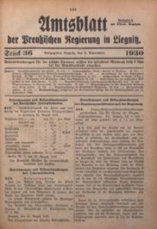 Amtsblatt der Preußischen Regierung in Liegnitz, 1930, Jg. 120, Nr. 36
