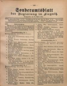 Sonderamtsblatt der Regierung in Liegnitz, 28. April 1924