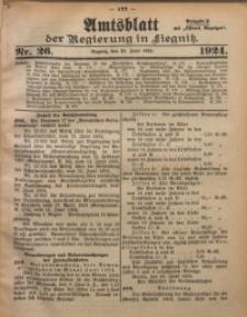 Amtsblatt der Regierung in Liegnitz, 1924, Jg. 114, Nr. 26