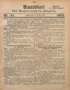 Amtsblatt der Regierung in Liegnitz, 1924, Jg. 114, Nr. 42