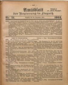 Amtsblatt der Regierung in Liegnitz, 1924, Jg. 114, Nr. 51