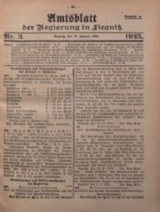 Amtsblatt der Regierung in Liegnitz, 1925, Jg. 115, Nr. 3