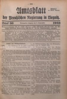 Amtsblatt der Preußischen Regierung in Liegnitz, 1933, Jg. 123, Nr. 36