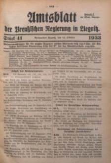 Amtsblatt der Preußischen Regierung in Liegnitz, 1933, Jg. 123, Nr. 41