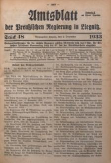 Amtsblatt der Preußischen Regierung in Liegnitz, 1933, Jg. 123, Nr. 48