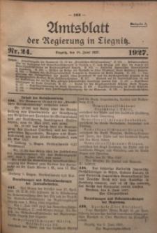 Amtsblatt der Regierung in Liegnitz, 1927, Jg. 117, Nr. 24