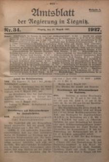Amtsblatt der Regierung in Liegnitz, 1927, Jg. 117, Nr. 34