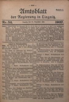 Amtsblatt der Regierung in Liegnitz, 1927, Jg. 117, Nr. 52