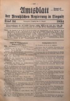 Amtsblatt der Preußischen Regierung in Liegnitz, 1934, Jg. 124, Nr. 32