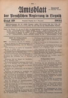 Amtsblatt der Preußischen Regierung in Liegnitz, 1934, Jg. 124, Nr. 49