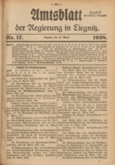Amtsblatt der Regierung in Liegnitz, 1928, Jg. 118, Nr. 17