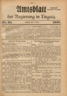 Amtsblatt der Regierung in Liegnitz, 1928, Jg. 118, Nr. 22