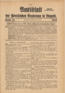 Amtsblatt der Preußischen Regierung in Liegnitz, 1935, Jg. 125, Nr. 28