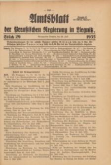 Amtsblatt der Preußischen Regierung in Liegnitz, 1935, Jg. 125, Nr. 29