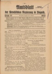 Amtsblatt der Preußischen Regierung in Liegnitz, 1935, Jg. 125, Nr. 35