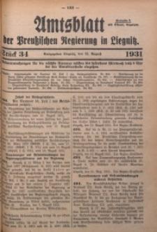 Amtsblatt der Preußischen Regierung in Liegnitz, 1931, Jg. 121, Nr. 34