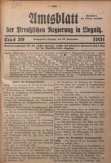 Amtsblatt der Preußischen Regierung in Liegnitz, 1931, Jg. 121, Nr. 39