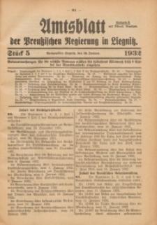 Amtsblatt der Preußischen Regierung in Liegnitz, 1932, Jg. 122, Nr. 5