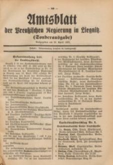 Amtsblatt der Preußischen Regierung in Liegnitz, 1932, Jg. 122, Sonderausgabe am 20. April